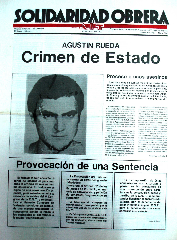 """Especial sobre Agustín Rueda en la """"Soli"""""""