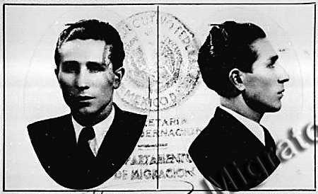 Foto de Juan Rueda Ortiz del Servei de Migació mexicà (1939)