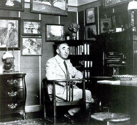 Théo van Rysselberghe a la seva casa-taller (Saint-Clair, 1925)