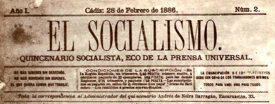 """Capçalera d'""""El Socialismo"""""""