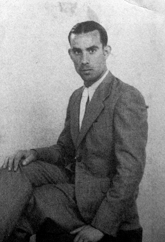 El mestre racionalista Joan Sans Sicart (ca. 1935)