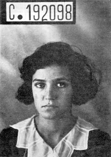 Foto policíaca d'América Scarfó (1 de febrer de 1931)