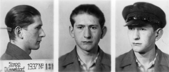 Foto policial de Hans Schmitz (1937)