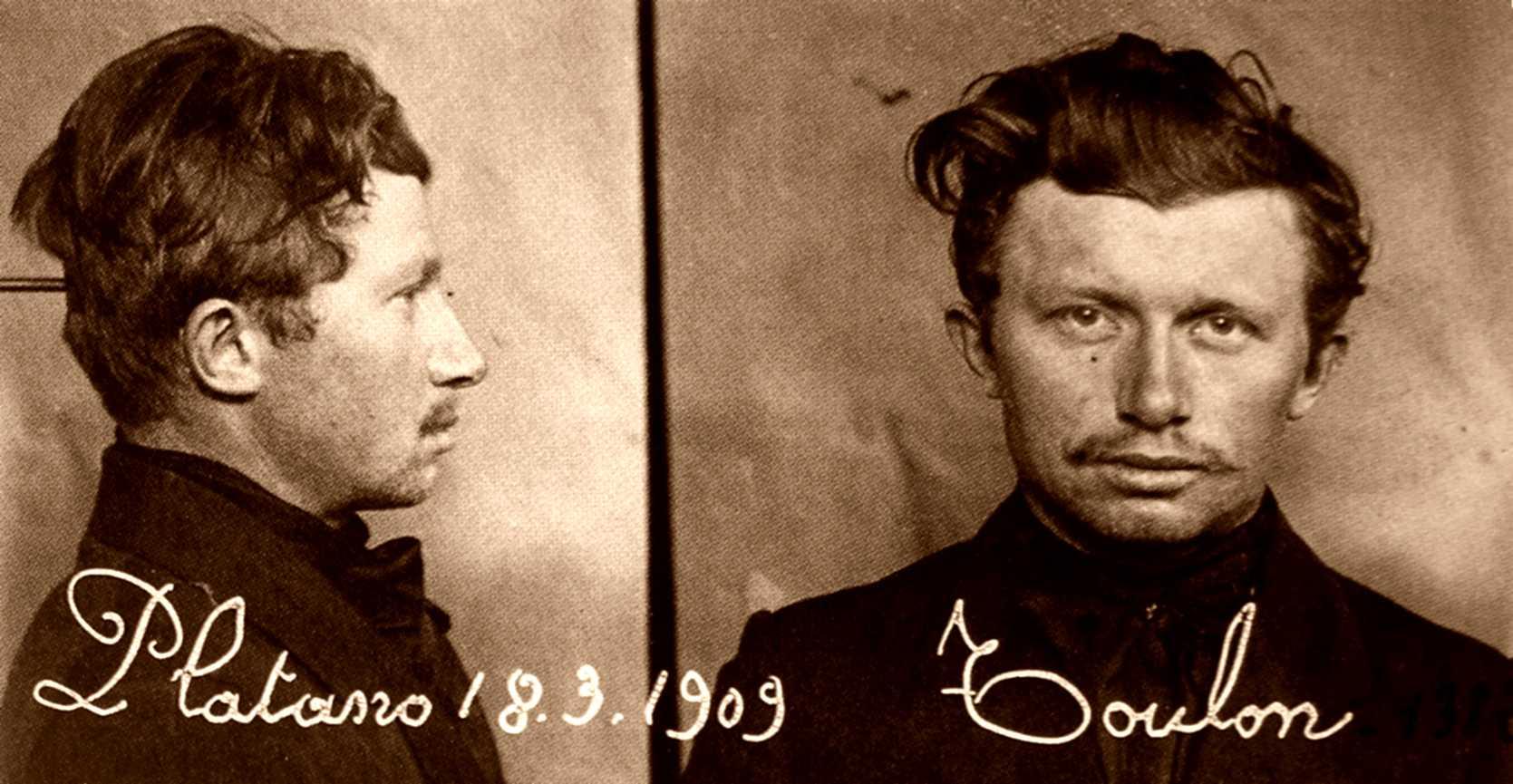 Fotografia antropomètrica de Giuseppe Sorrentino (18 de març de 1909)