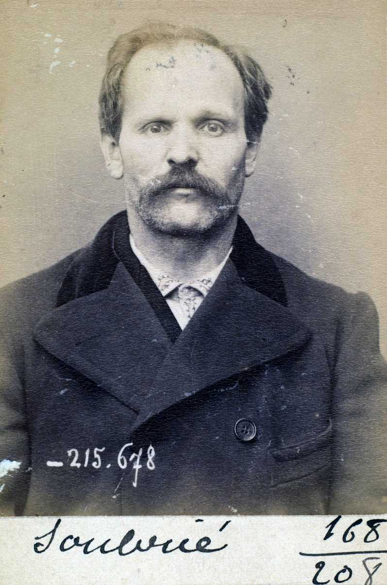 Foto policíaca de François Soubrié (14 de març de 1894)
