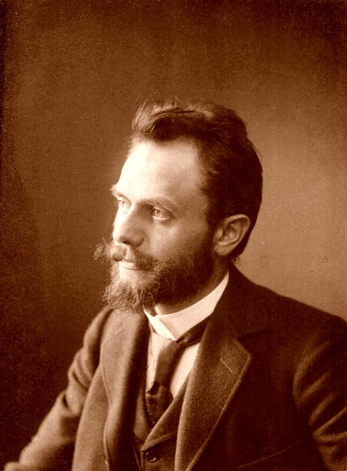 Wilhelm Spohr fotografiado por Wettern en Hamburgo (ca. 1890 a 1910)