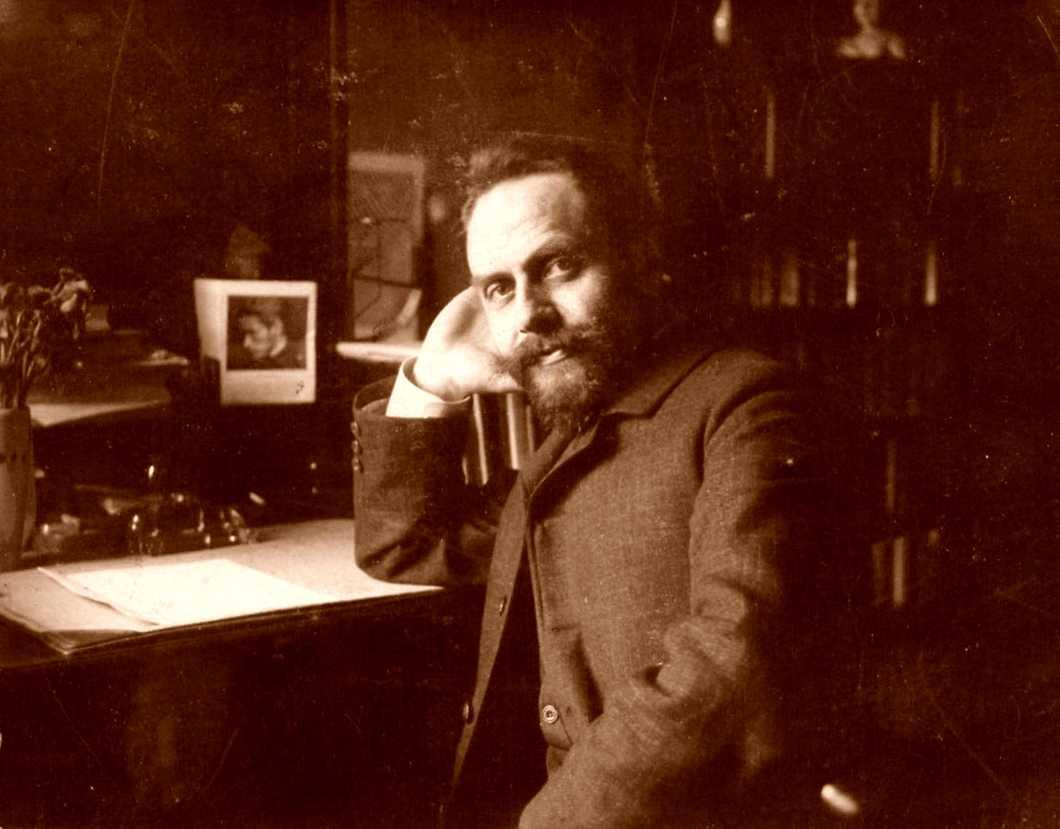 Wilhelm Spohr al seu despatx (ca. 1890-1910)