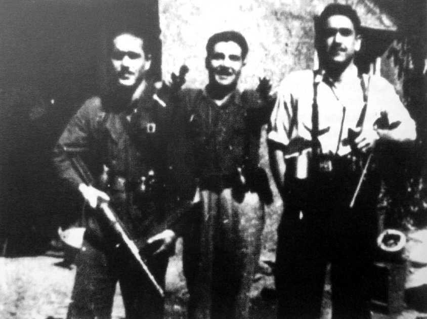 """D'esquerra a dreta: Inocencio Ferreras Díez (""""Gitano""""), Calixto López Abad i Francisco Suárez Salvador (""""El Químico"""")"""
