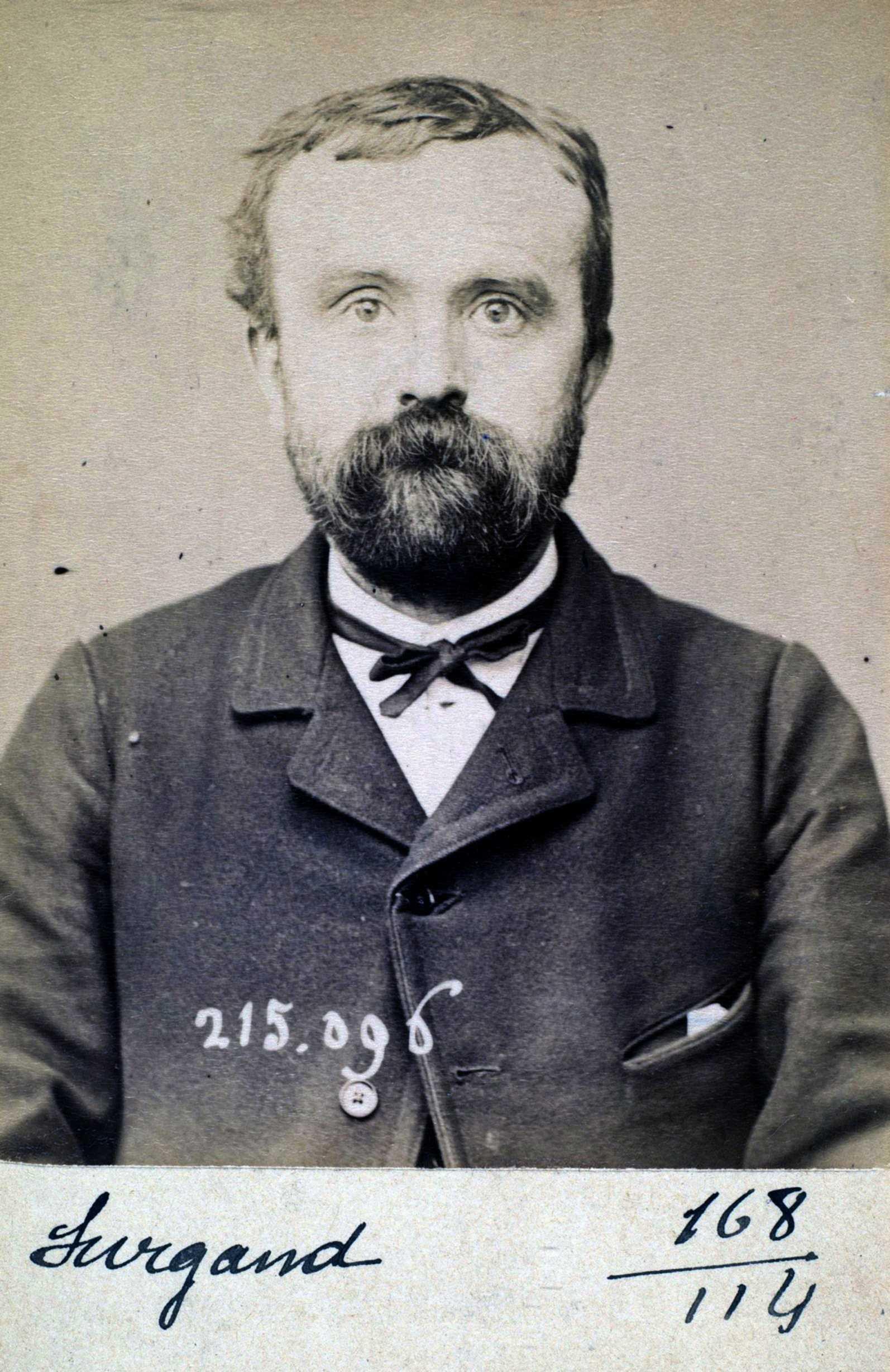 Foto policíaca d'Alphonse Surgand (4 de març de 1894)
