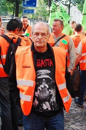 Serge Torrano fotografiat per Sébastien en una manifestació (París, 21 de setembre de 2009)
