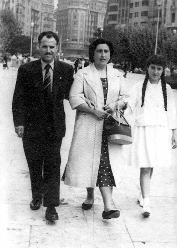 Diego Antonio Torró Pardo amb sa companya Ana Azorín Esteban i sa filla Ana (València, 1958)