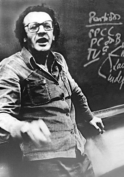 Maurício Tragtenberg en la Escuela de Sociología y Política de Sao Paulo (4 de mayo de 1981)