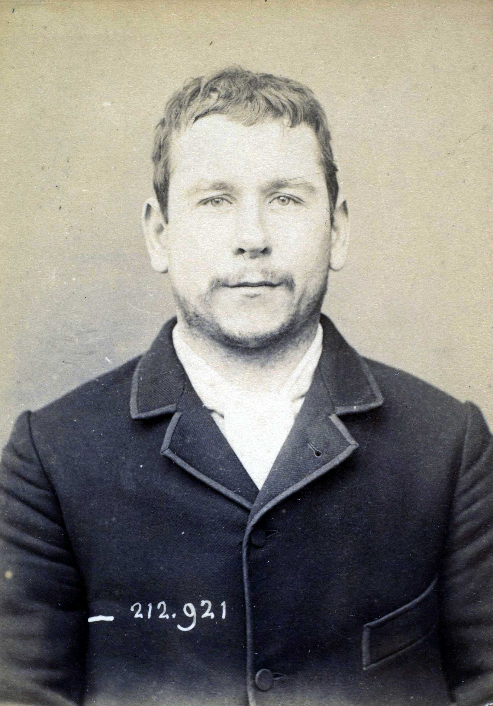 Foto policíaca d'Albert Tramcourt (ca. 1894)