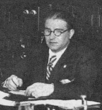 Francisco Trigo Domínguez al seu despatx