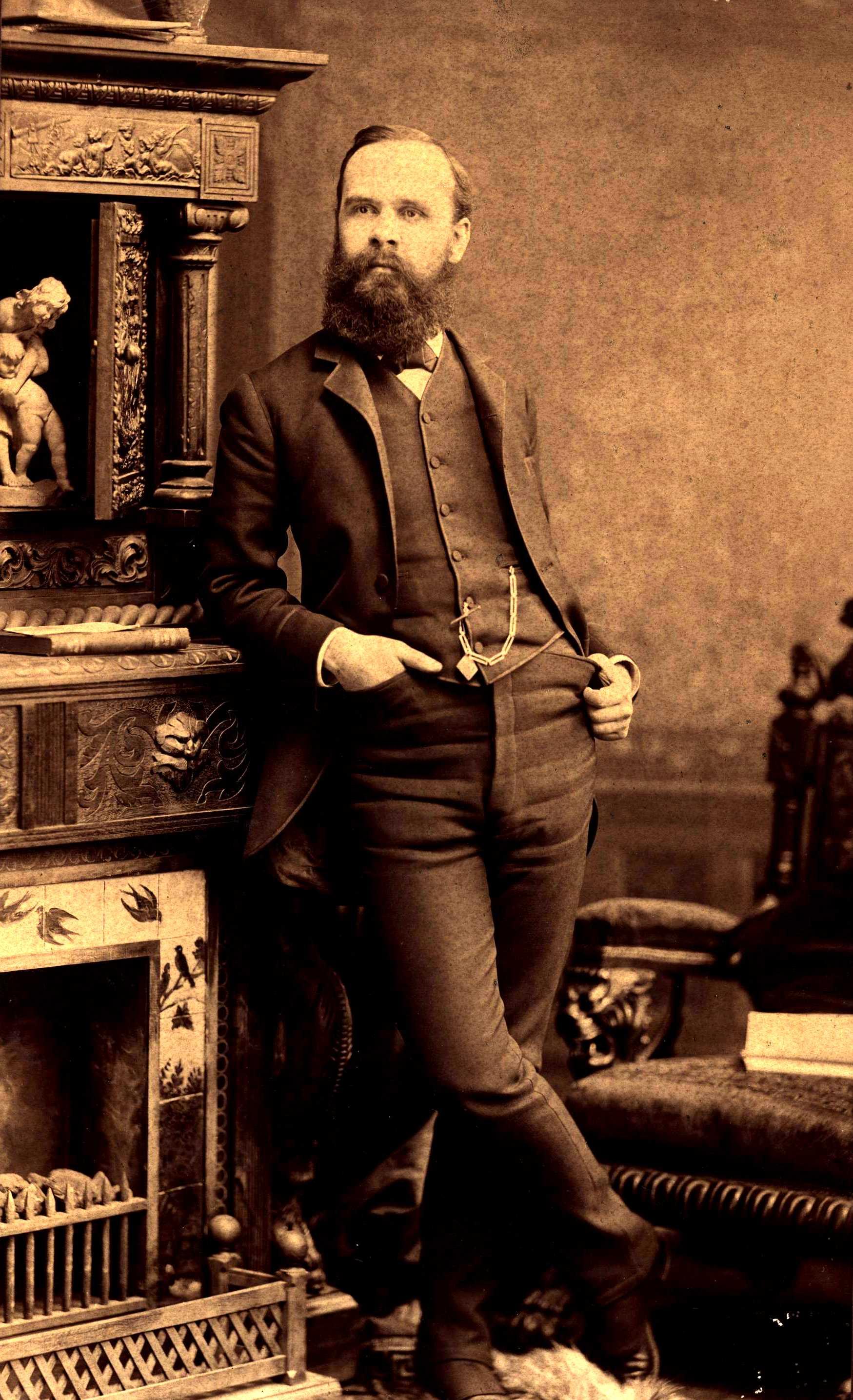 Benjamin Tucker fotografiat per Hardy (Boston, ca. 1887)