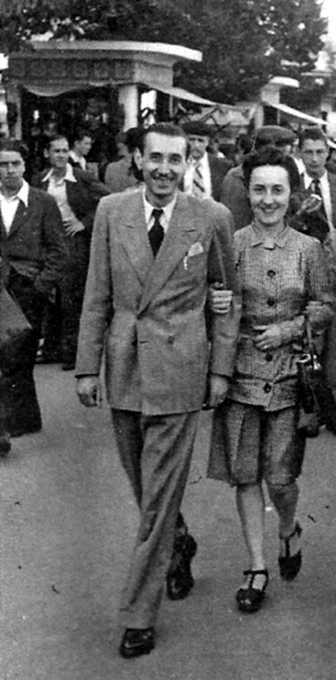 Virgili Batlle i la seva companya Jeanne Marcelle Daynès (Tolosa de Llenguadoc, 1945)