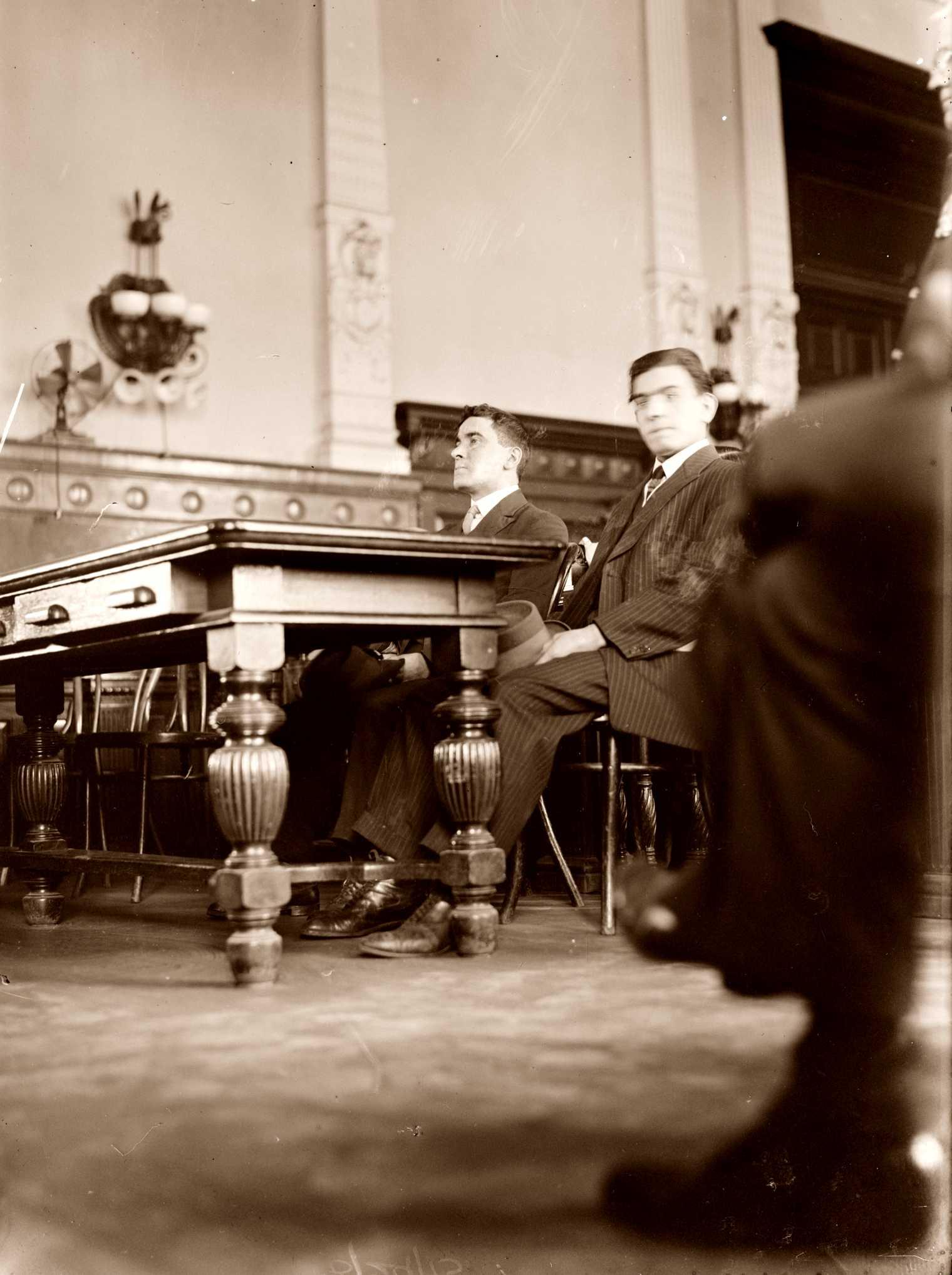 Abarno i Carbone durant el judici