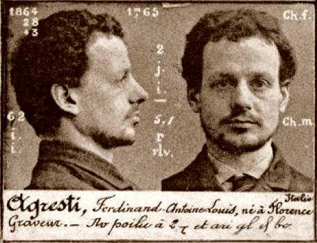 Foto policíaca d'Antonio Agresti (ca. 1894)
