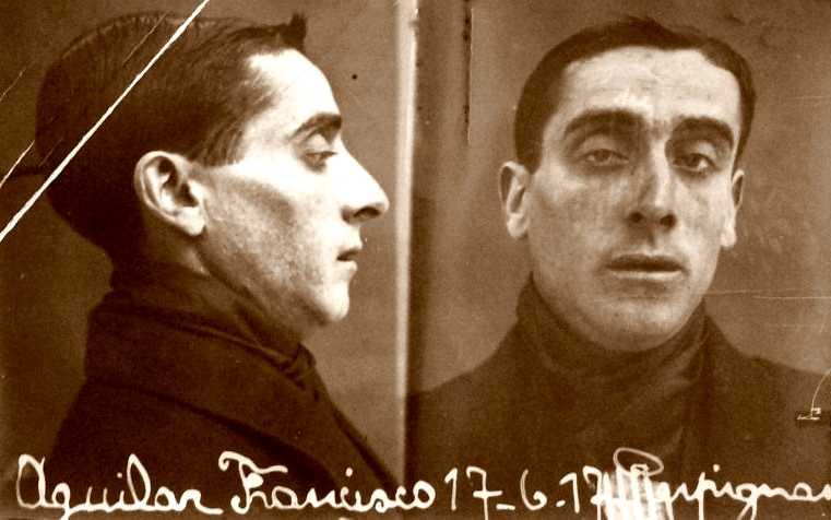 Foto policíaca de Francisco Aguilar Morato