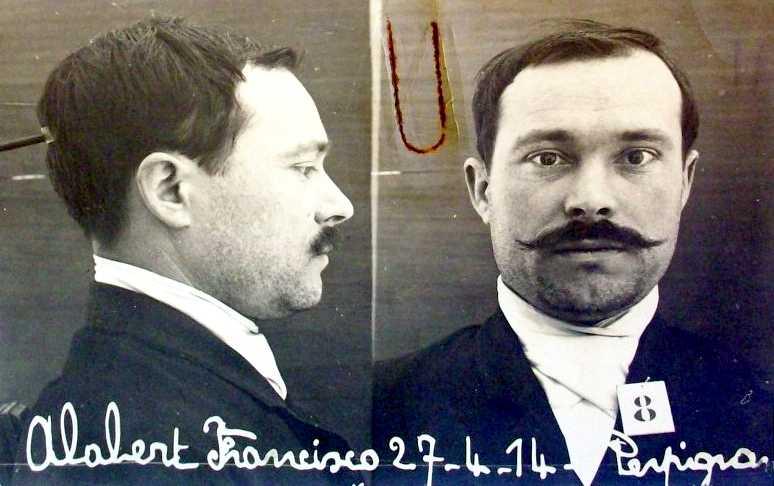 Foto policíaca de Francesc Alabert Berga (1914)