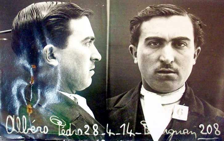 Foto antropomètrica policíaca de Pere Albero Mataix