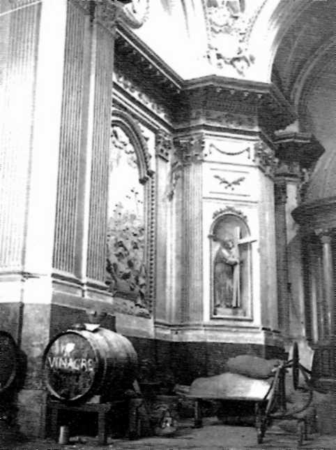 Església reconvertida en magatzem de redistribució de la col·lectivitat d'Alcanyís