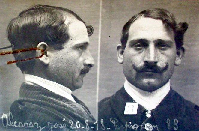 Fotografia policíaca de José Alcaraz Cases (20 d'agost de 1918)