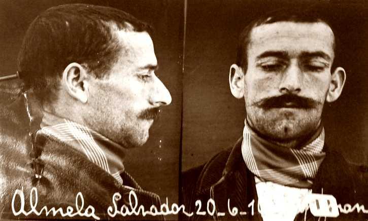 Foto policíaca de Salvador Almela López (1914)