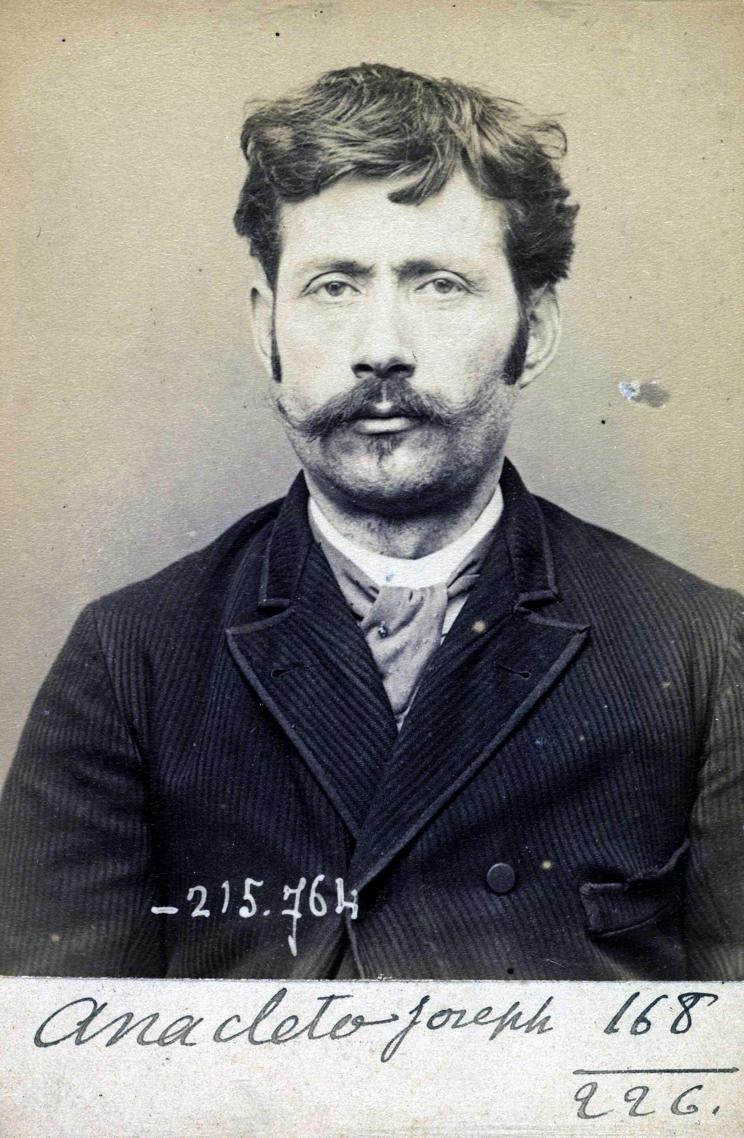 Foto policíaca de Joseph Anacléto (16 de març de 1894)