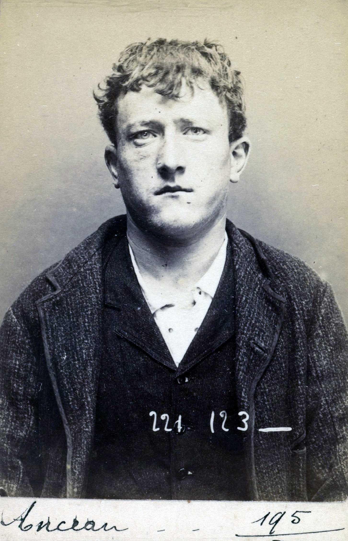 Foto policíaca d'Aimé Anceau (17 de juliol de 1894)