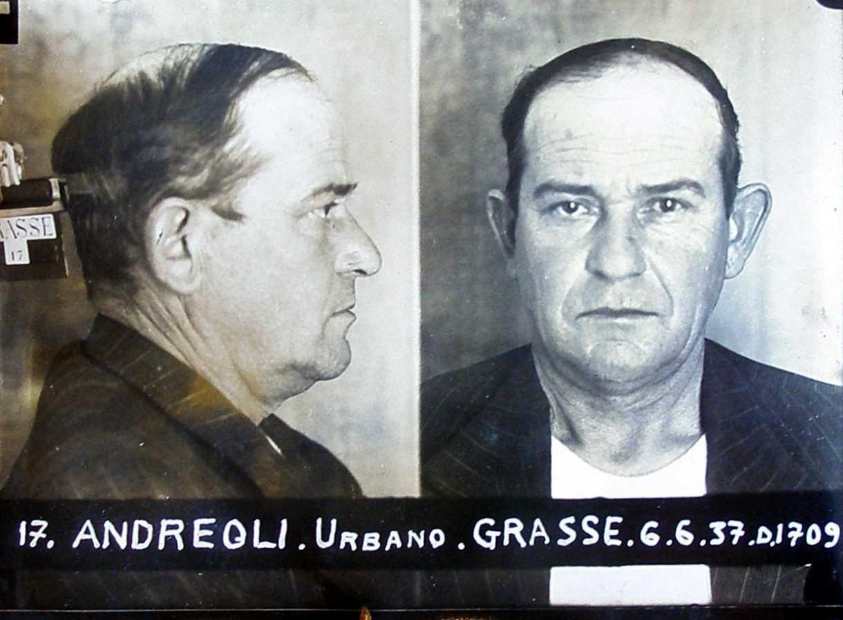 Foto policíaca d'Urbano Andreoli (6 de juny de 1937)