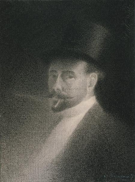 Autoretrat de Charles Angrand (1892). Metropolitan Museum of Art de Nova York