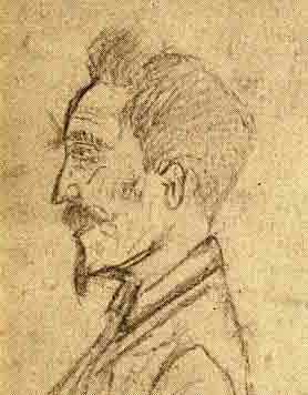 Antoine Antignac dibuixat per Aristide Lapeyre