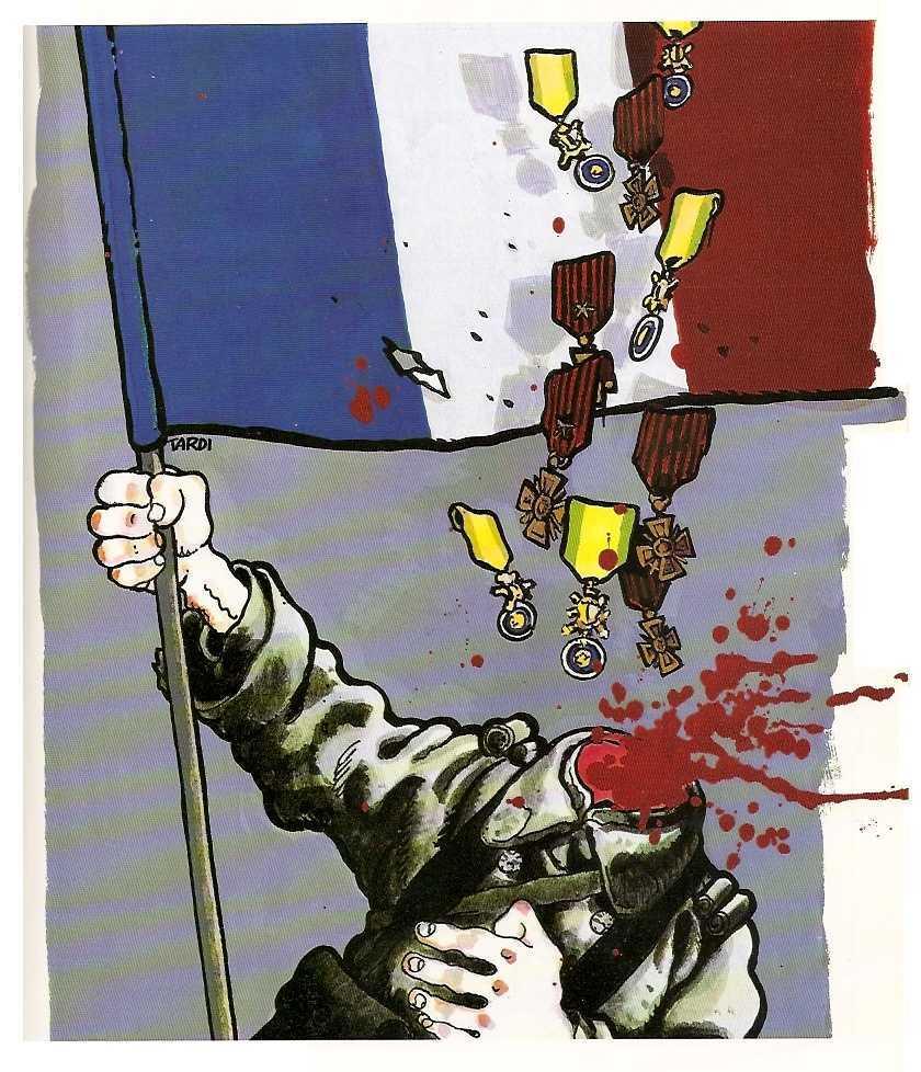 Dibujo antimilitarista de Tardi