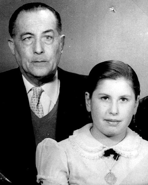 Antonio Soto amb sa filla Isabel Soto Cárdenas