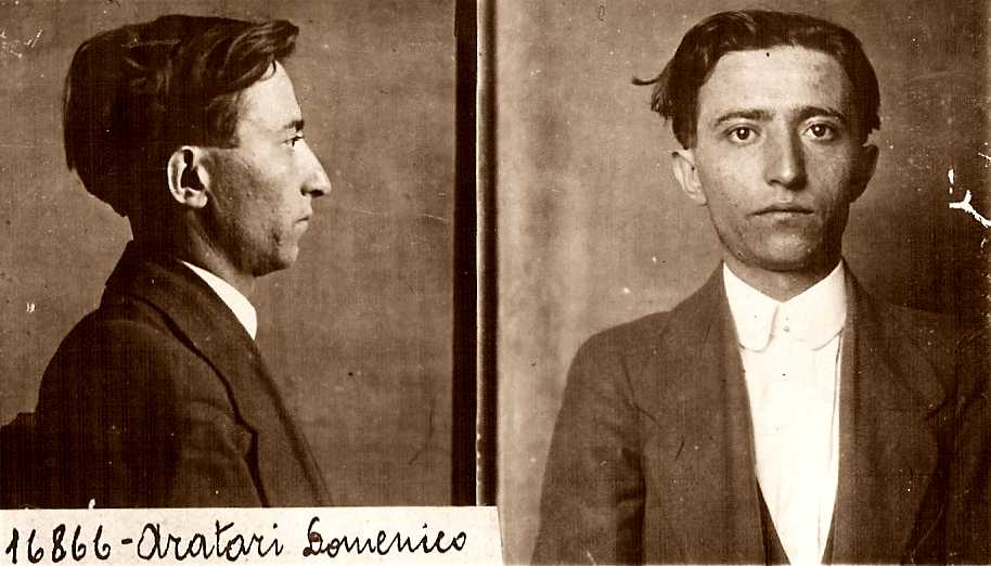Foto policíaca de Domenico Aratari