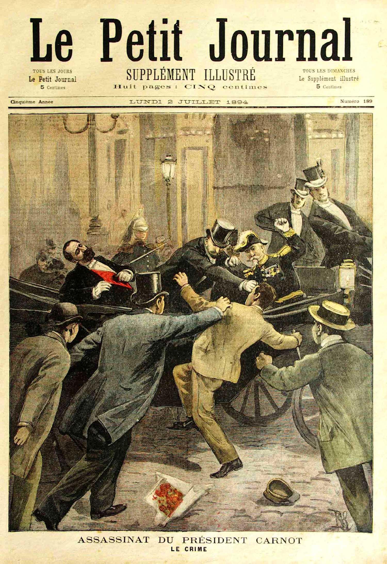 """L'assassinat de Carnot segons """"Le Petit Journal"""""""