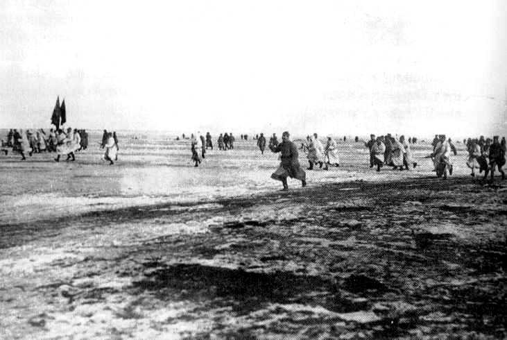 L'Exèrcit Roig atacant Kronstadt