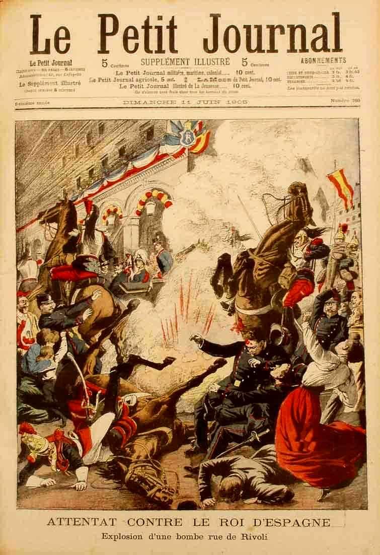 """L'atemptat segons el periòdic parisenc """"Le Petit Jounal"""" de l'11 de juny de 1905"""