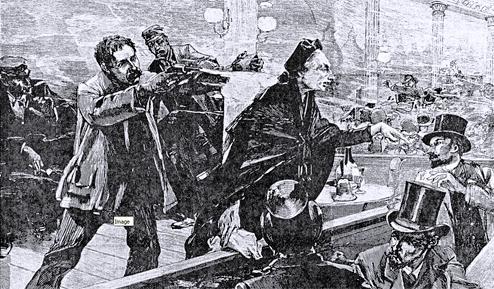 """L'atemptat contra Michel segons l'""""Illustration"""" del 28 de gener de 1888"""