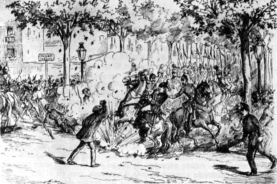 """Atemptat de Pallàs segons el periòdic barceloní """"La Campana de Gràcia"""" del 30 de setembre de 1893"""
