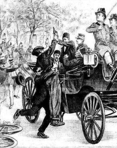 """La temptativa de Salson segons el periòdic parisenc """"La Vie Illustrée"""" del 10 d'agost de 1900"""