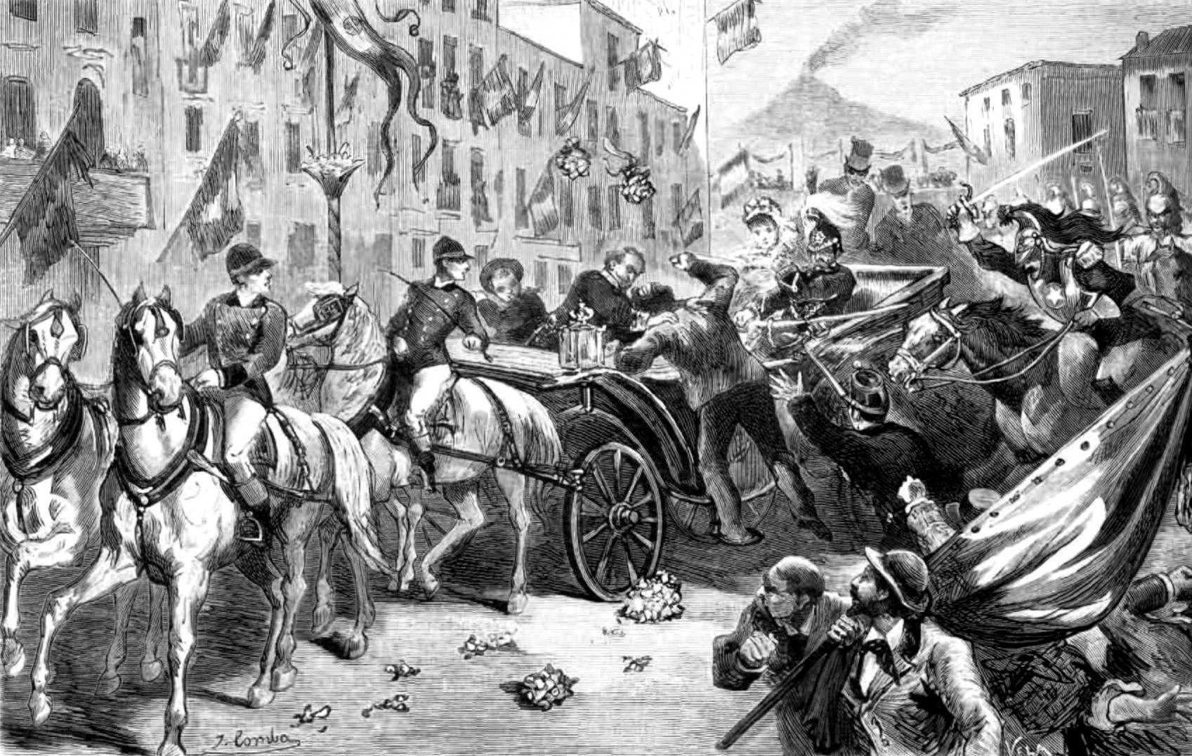 """L'atemptat d'Umbert I segons """"La Ilustración española y Americana"""" del 8 de desembre de 1878"""