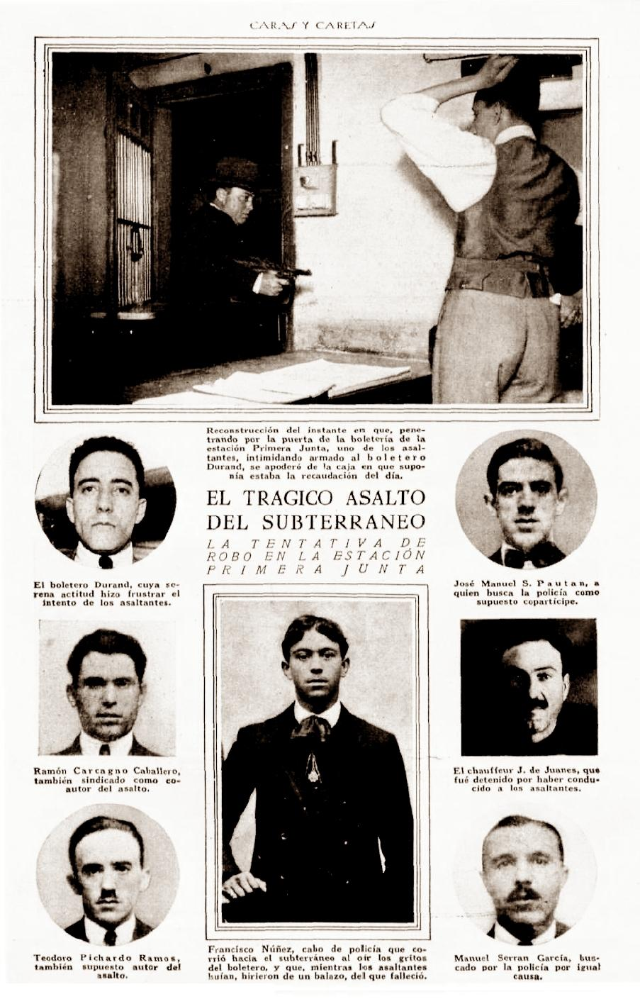 """El atraco de Primera Junta según la publicación de Buenos Aires """"Caras y Caretas"""" (núm. 1417, 28-11-1925)"""