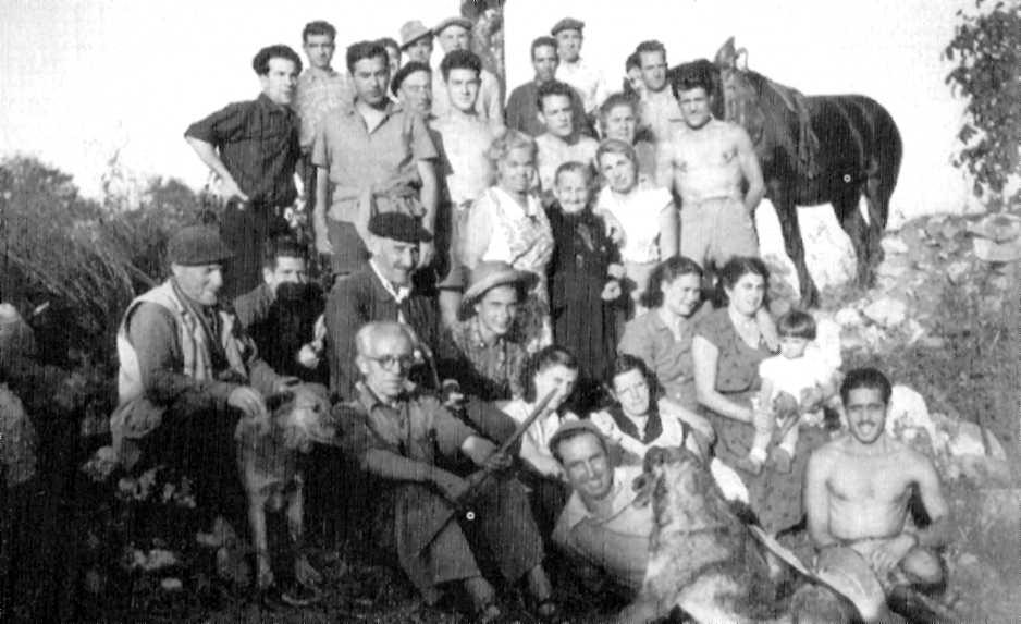 Miembros de la colonia libertaria de Aymà