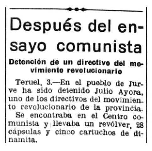 """Notícia de la detenció de Julio Ayora Aznar publica al periòdic madrileny """"La Libertad"""" del 4 de febrer de 1932"""