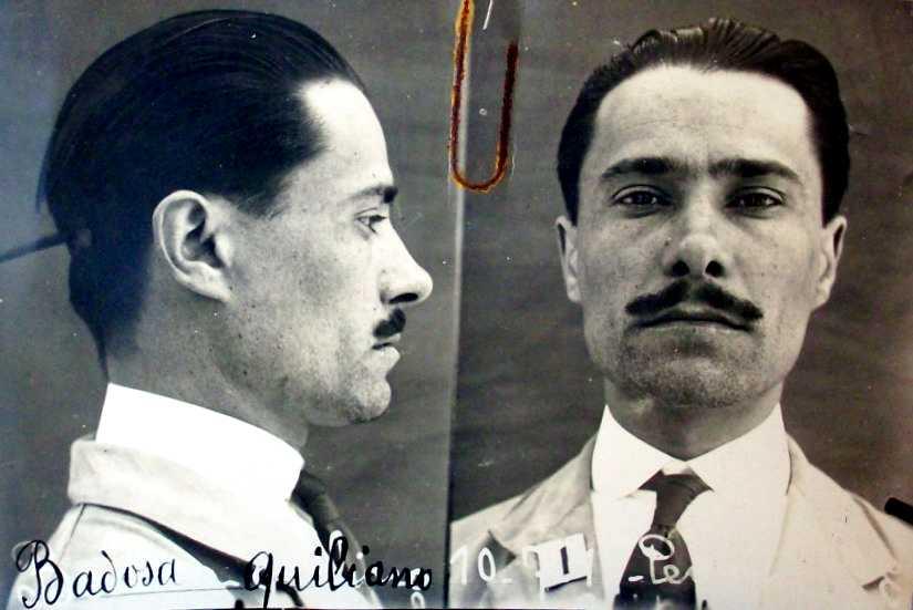 Foto policíaca de Quiliano Badosa Miramont (1917)