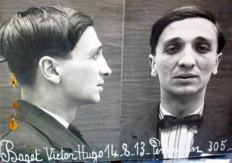 Fotografia policíaca de Víctor Hugo Baget Ruiz (14 d'agost de 1913)