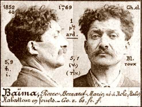 Foto policíaca de Pietro Baima (ca. 1894)