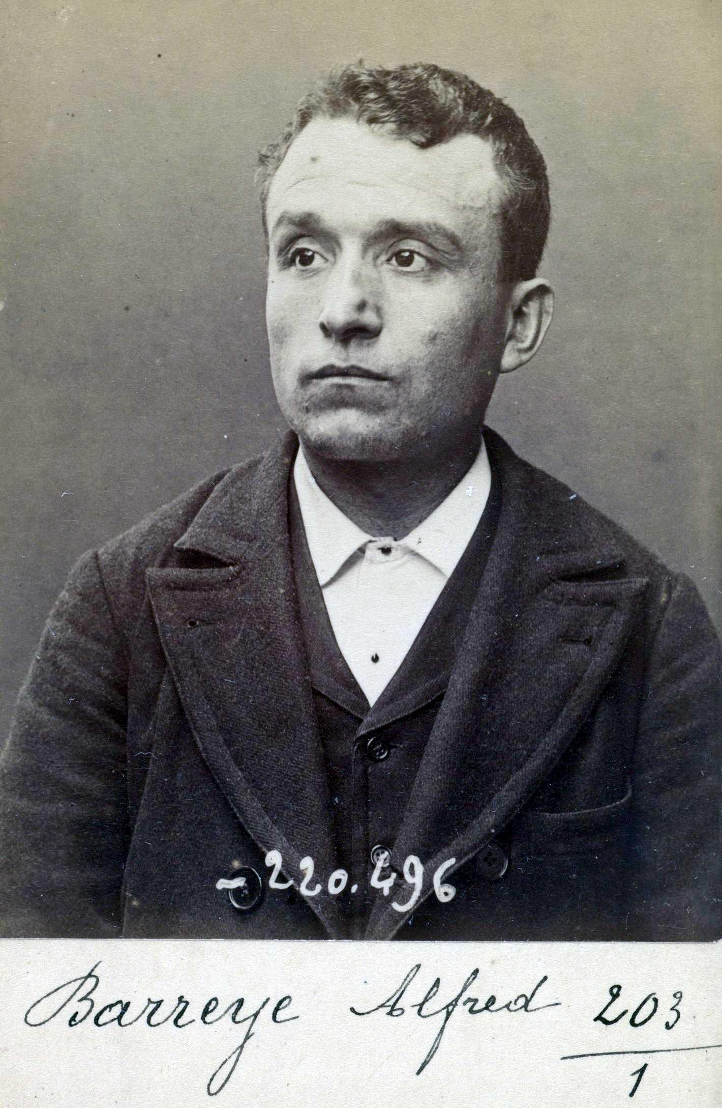 Foto policíaca d'Alfred Barreyre (2 de juliol de 1894)